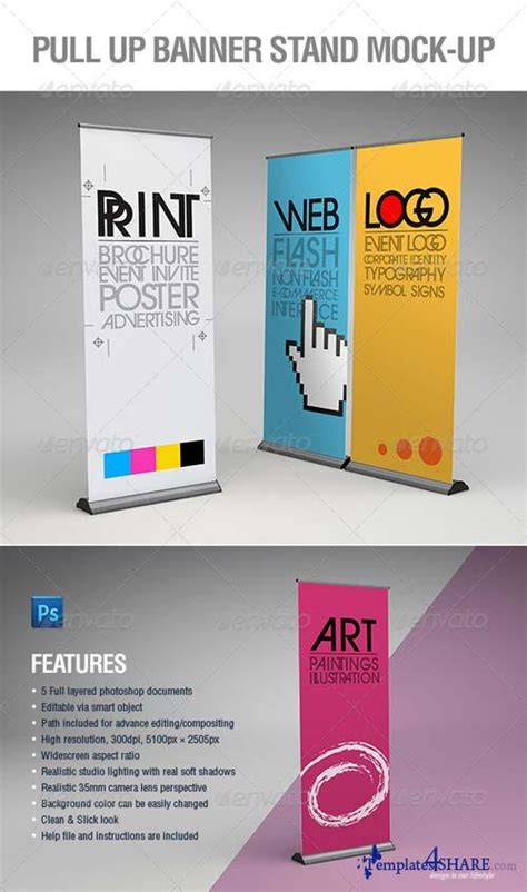 pull up banner template graphicriver pull up banner stand mock up