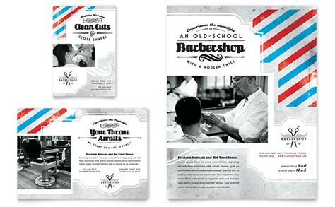 barber shop template barbershop flyer ad template design