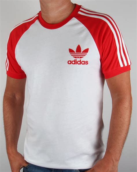 Adidas Vintage T Shirt by Adidas Originals Retro 3 Stripe T Shirt White