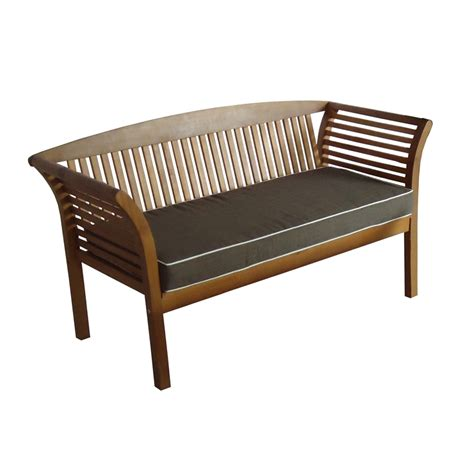bench contact mimosa 3 seater fresco timber bench bunnings warehouse