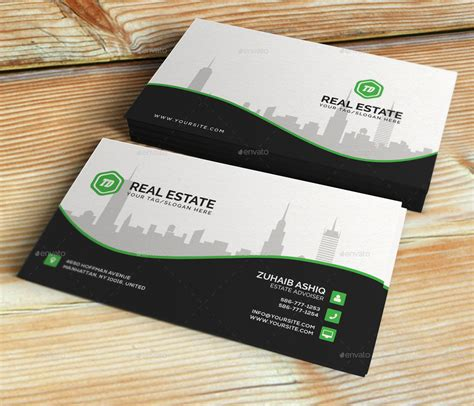 Business Card Template Preview by Real Estate Business Card Template By Themedesk