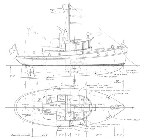 tugboat dimensions 32 tug yacht terrier vessel specification