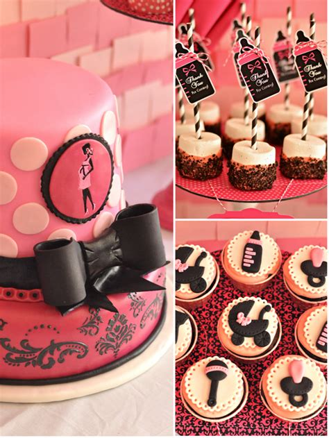Pink And Black Baby Shower Themes by Black And Pink Baby Shower Ideas Babywiseguides