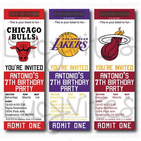 ticket stub invitation template basketball ticket invitation cake ideas and designs