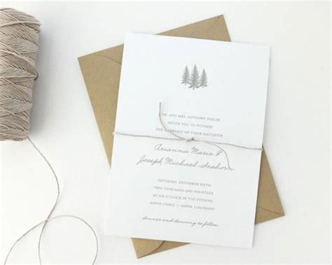 how to make a simple wedding invitation card aspen wedding invitation sle rustic wedding invite