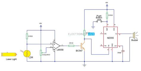 circuit diagram of laser security alarm efcaviation