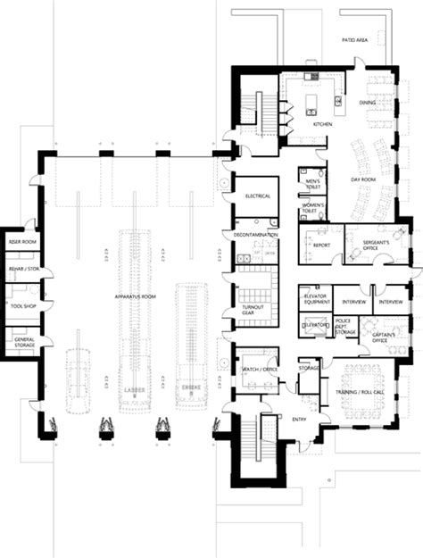 volunteer fire station floor plans 1000 images about fire station on pinterest