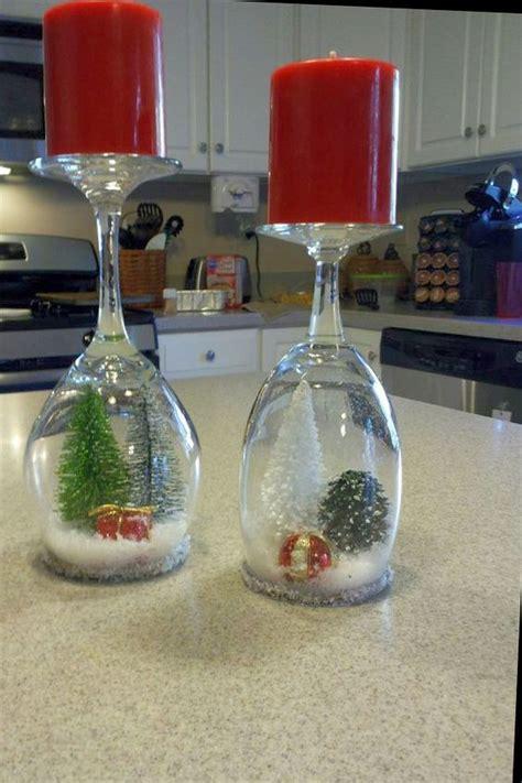decorazioni bicchieri portacandele natalizi con bicchieri di vetro fai da te 20