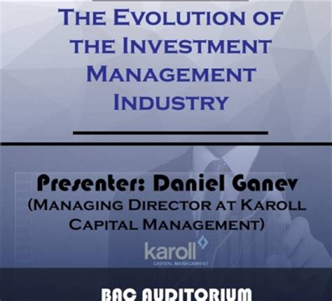 Investment Management Mba Ranking by Presentation The Evolution Of Investment Management Aubg