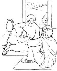 paul and ananias coloring page