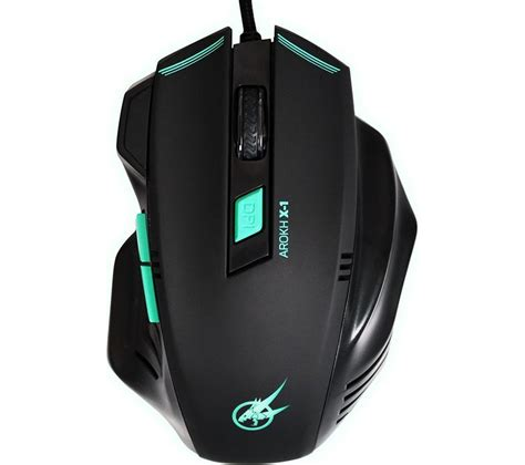 Mouse Gaming port designs arokh x 1 optical gaming mouse black green deals pc world