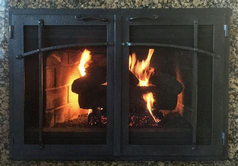 forged iron fireplace doors fd005 from mantel depot