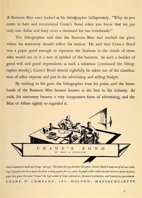 crane writing paper 1926 vintage ad crane s bond letterhead paper a