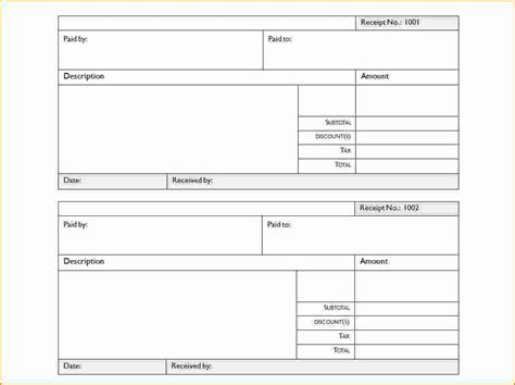 receipt forms templates 5 blank receipt form printable receipt