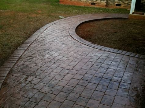 Patterns For Window Treatments - stamped concrete rocky mount cobblestone traditional richmond by decorative concrete of