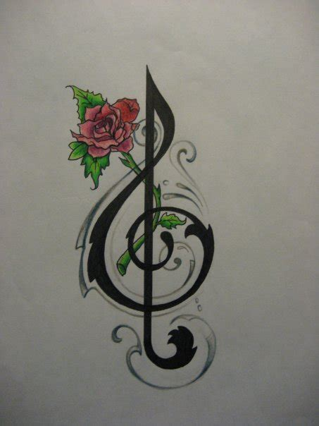 music notes with roses tattoo musical note tattoos