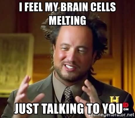 Brain Meme Generator - i feel my brain cells melting just talking to you