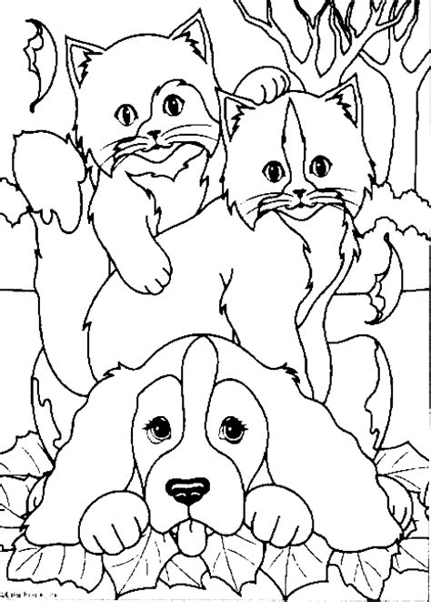 cat dog coloring printable coloring pages