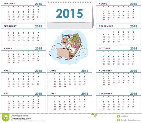 Desk Calendar 2015 by Desk Calendar 2015 Template Stock Vector Image 43393523