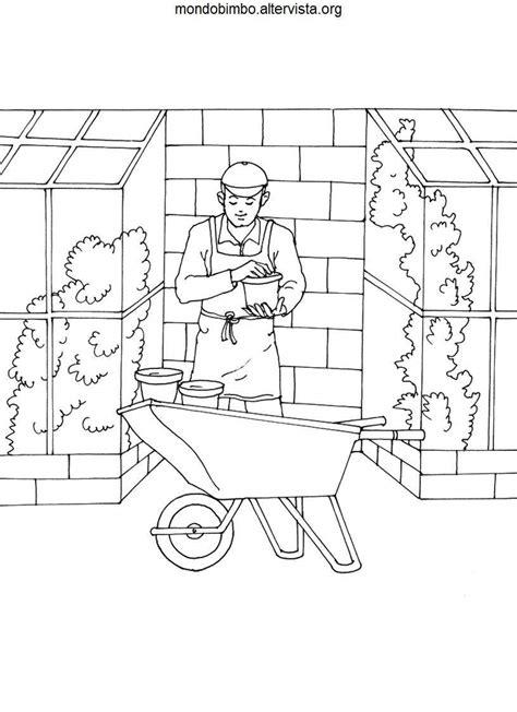 giochi di giardiniere giardinieri da colorare mondo bimbo