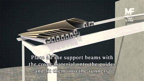 retractable pergola roof retractable roof pergola quot top quot installation