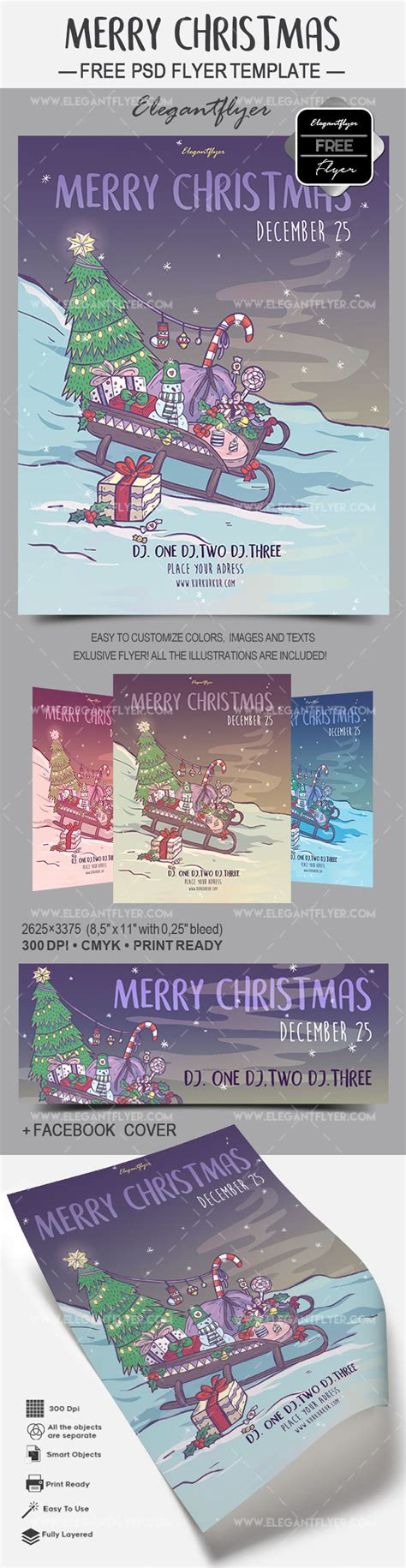 Merry Christmas Free Flyer Psd Template By Elegantflyer Merry Flyer Template Free