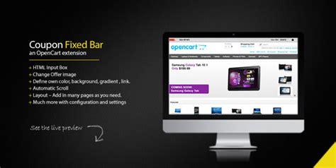 Fixed Top Bar Opencart Coupon Top Bar Fixed Leopedia Web Solutions