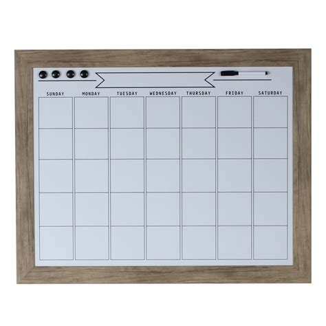 Erase Monthly Calendar Designovation Beatrice Framed Magnetic Erase Monthly
