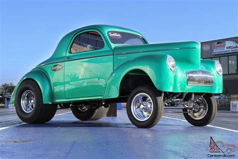 custom willys willys custom 1941 willys gasser style coupe in green