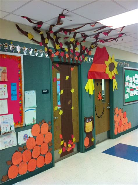 classroom fall door decorations our fall classroom doors door decor