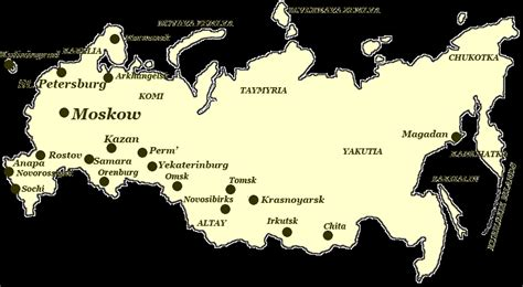 2015 map of russia map of russian cities