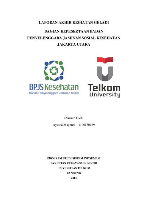 format proposal tugas akhir telkom university laporan geladi telkom university ayesha mayzuri