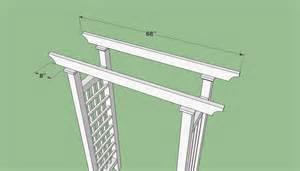 Arbor Building Plans Plans To Build A Wedding Arbor Furnitureplans
