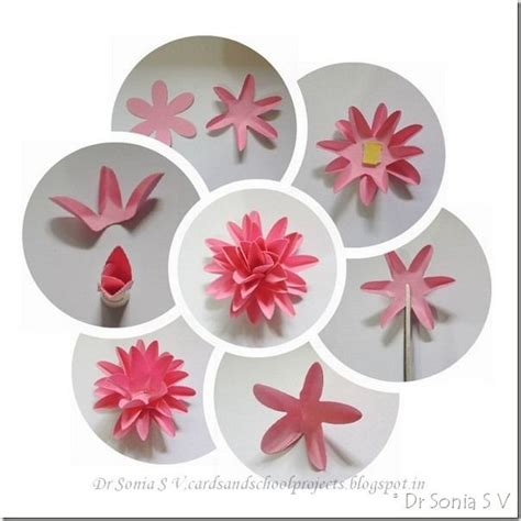 How To Make Paper Flowers For Cards - 1000 ideas about easy paper flowers on crepe