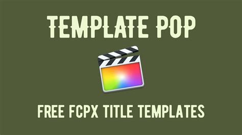 fcpx title templates template pop 24 free cut pro x title templates