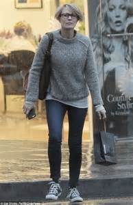 robin wright just before she cut her hair robin wright makes dash for it in la downpour after