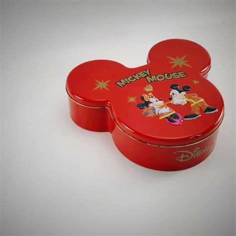china wholesale mickey mouse shape tin cookies tin