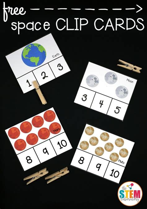 kindergarten activities on space i love these free outer space clip cards such a fun