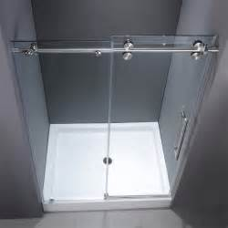 Home Depot Bathtub Enclosures Vg6041chcl48wm 48 Inch Frameless Shower Door Modern