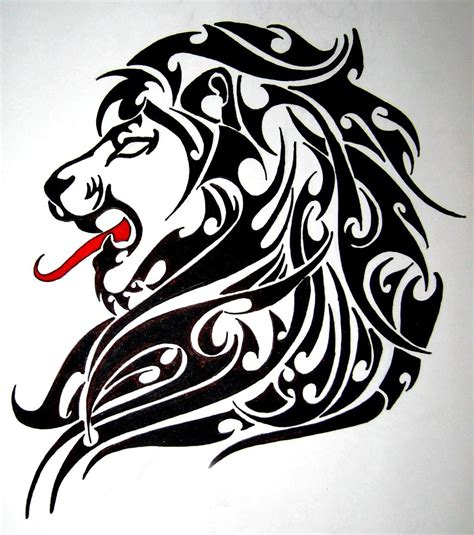 tattoo designs of tribal leo tribal designs