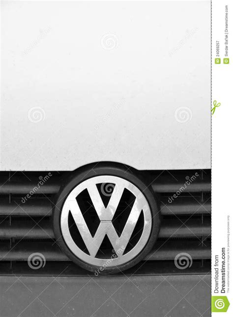 stock symbol for volkswagen volkswagen symbol editorial photography image 24069257