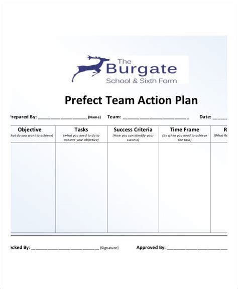 team plan template team plan templates 9 free pdf format