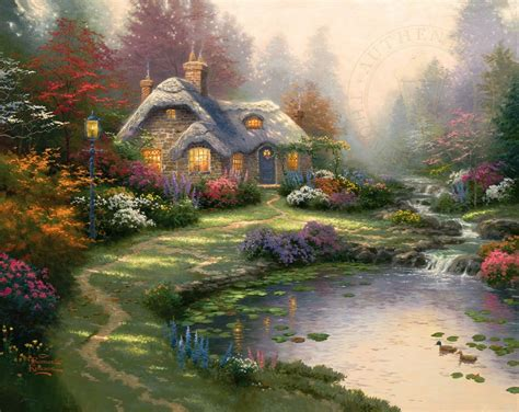 kinkade cottage painting everett s cottage the kinkade company