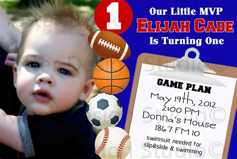 sports themed birthday invitations sports themed birthday party invitation by ritterdesignstudio