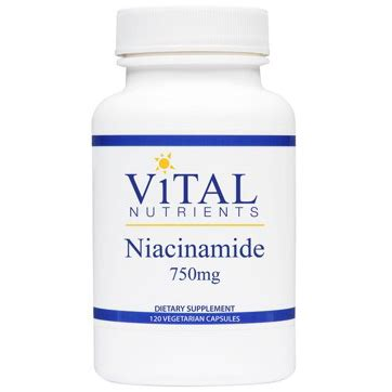 Niacinamide Detox by Vital Nutrients Niacinamide Nicotinic Acid Formula