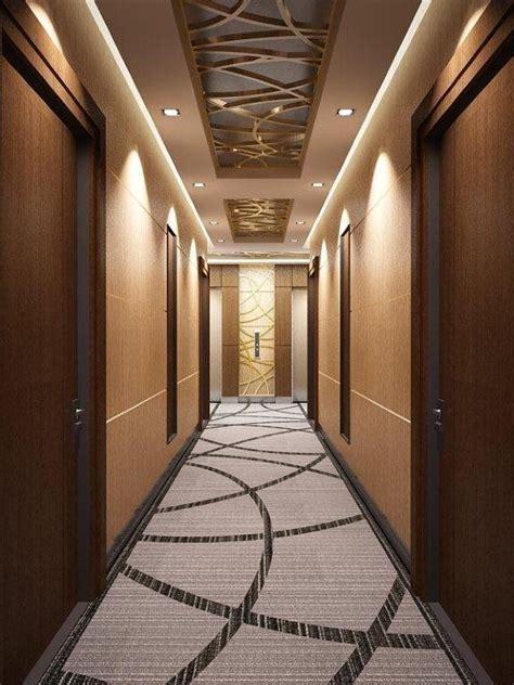corridor carpet communal space ceiling design false