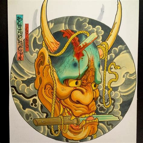 oni tattoo nyc 17 best images about hanya mask tattoos on pinterest