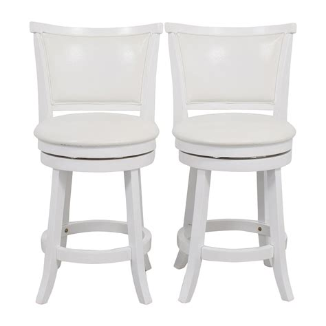 White Swivel Counter Height Stools by Stools Used Stools For Sale