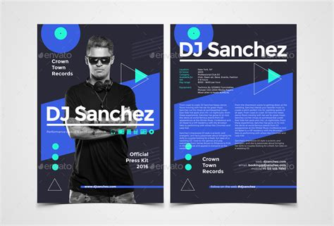 dj rider template prodj dj press kit rider resume psd template by