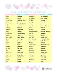 6 best images of free printable baby word scramble with answer key baby shower word scramble